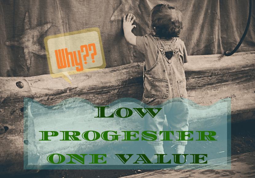プロゲステロンの数値の低さにショックを受けいる幼児の写真です。
