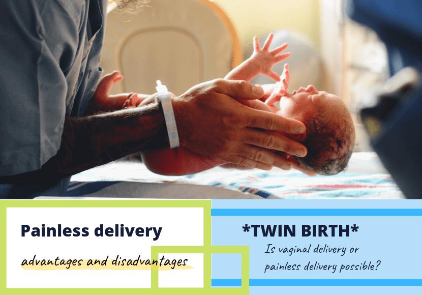 無痛分娩で生まれた赤ちゃんの写真です。