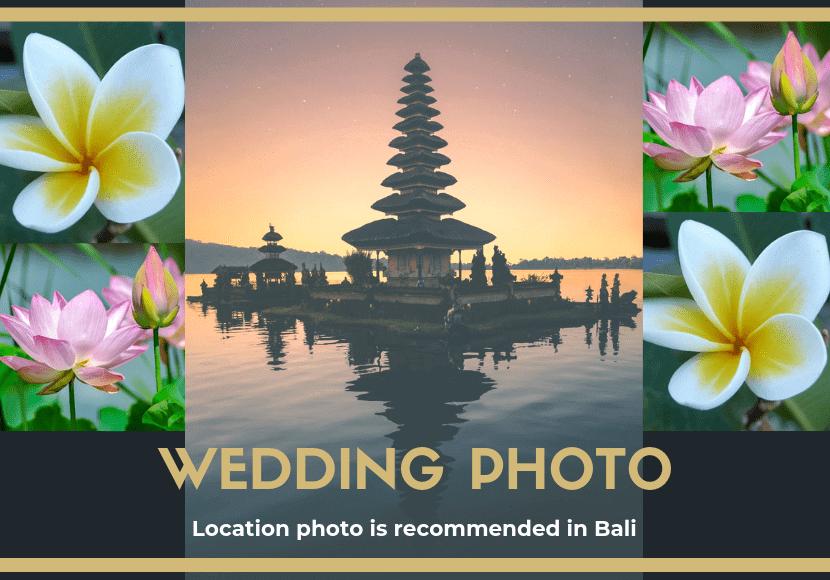 バリ島でのフォトウェディングのイメージする写真です。
