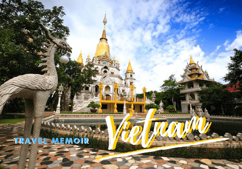 ベトナムの寺院の写真です。