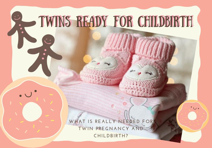 双子の出産準備品の写真です